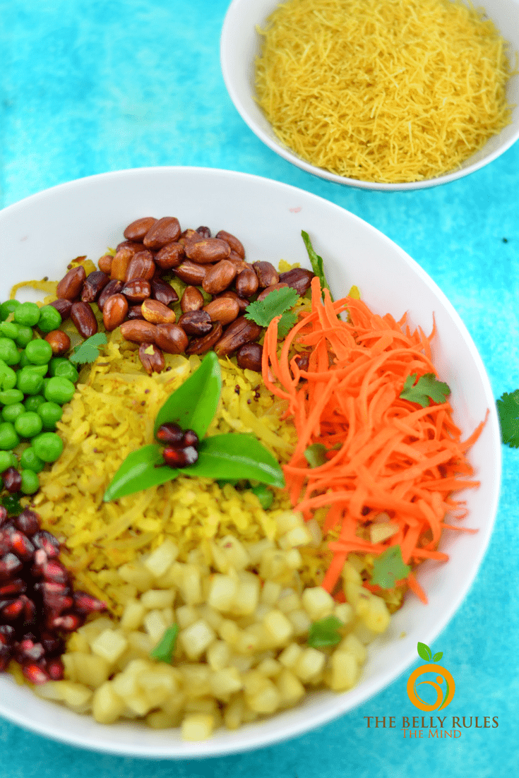 Achari Poha Breakfast Bowl-(Flatten Rice breakfast Bowl)