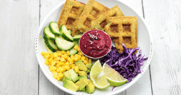 falafel vegan glutenfree waffle