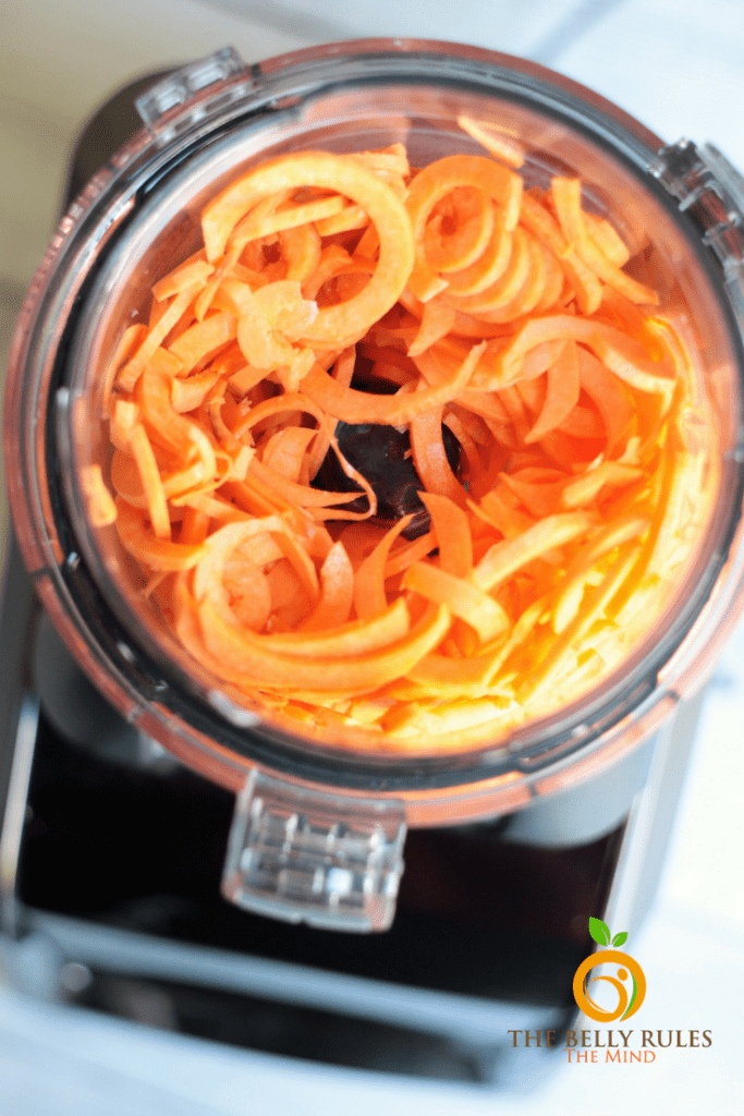 Sweet Potato Curly Fries Vegan Gluten-Free Spiralized