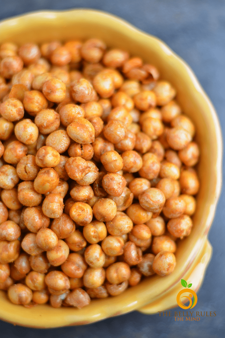 Minty & Garlicky Roasted Chickpeas
