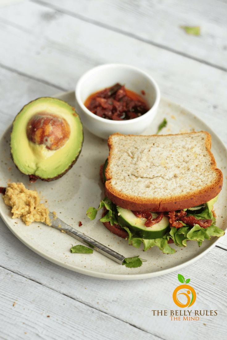 Sundried Tomato & Hummus Sandwich