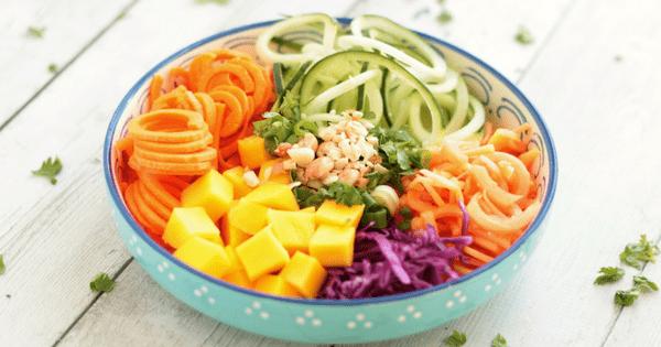 Rainbow Thai Spiralized Salad (V+GF)