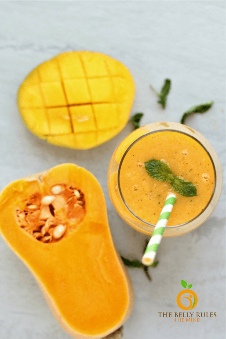 A Vegan TropicalButternut Squash Smoothie loaded with fruits and vegetables yes, please!!! Healthy.Immune Boosting. Low-Fat. Vegan. Gluten-Free. Dairy -Free. Nut-Free. Sugar-Free.Delicious. Kid-friendly.