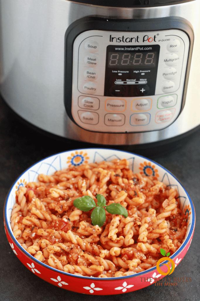 Instant Pot Vegan Pasta Arrabiatta Pasta