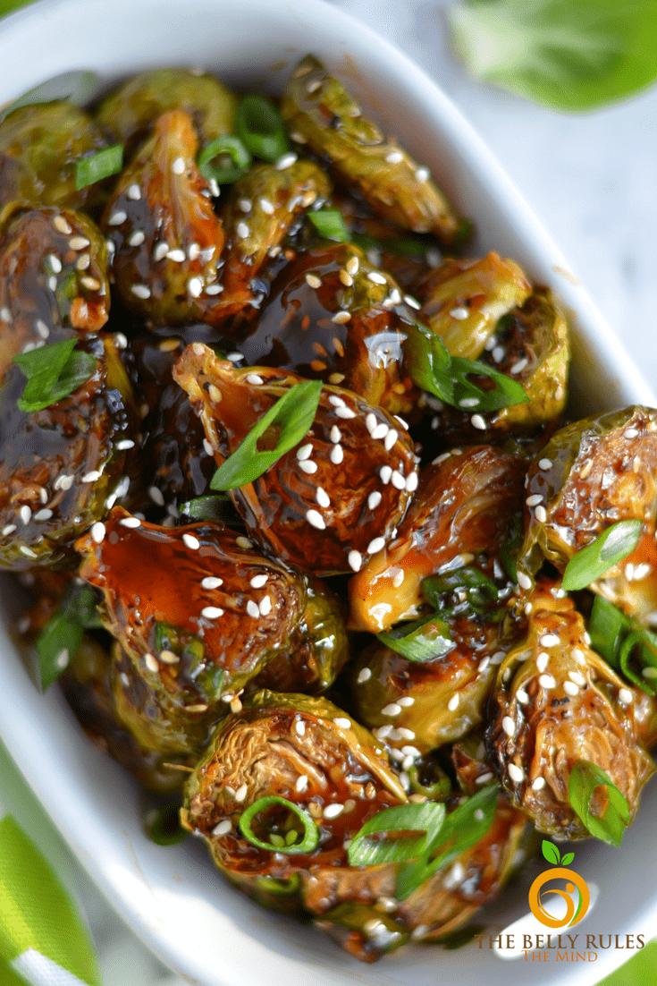 Teriyaki Brussel Sprout (Vegan+ Gluten-free)