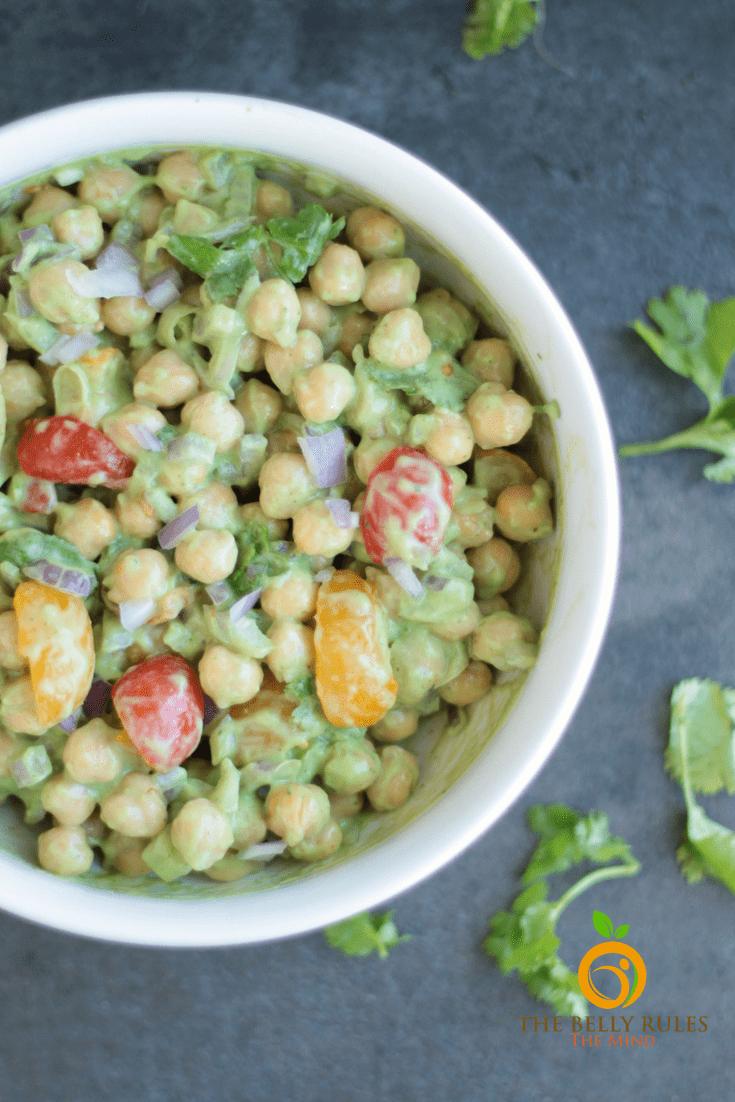 chickpea salad chole salad