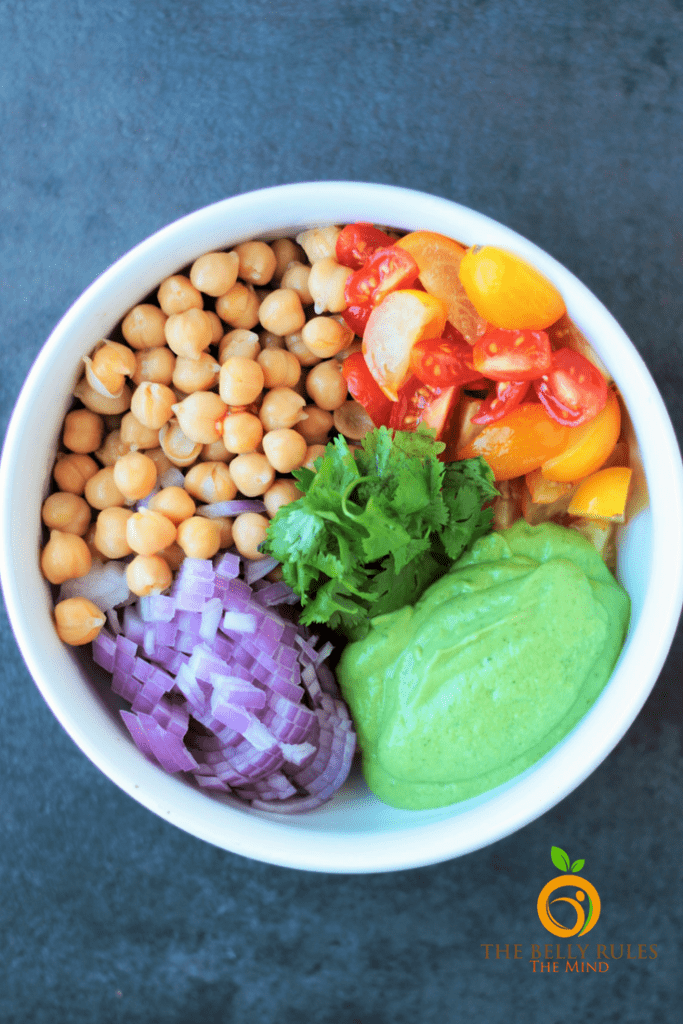 chickpea salad chole salad