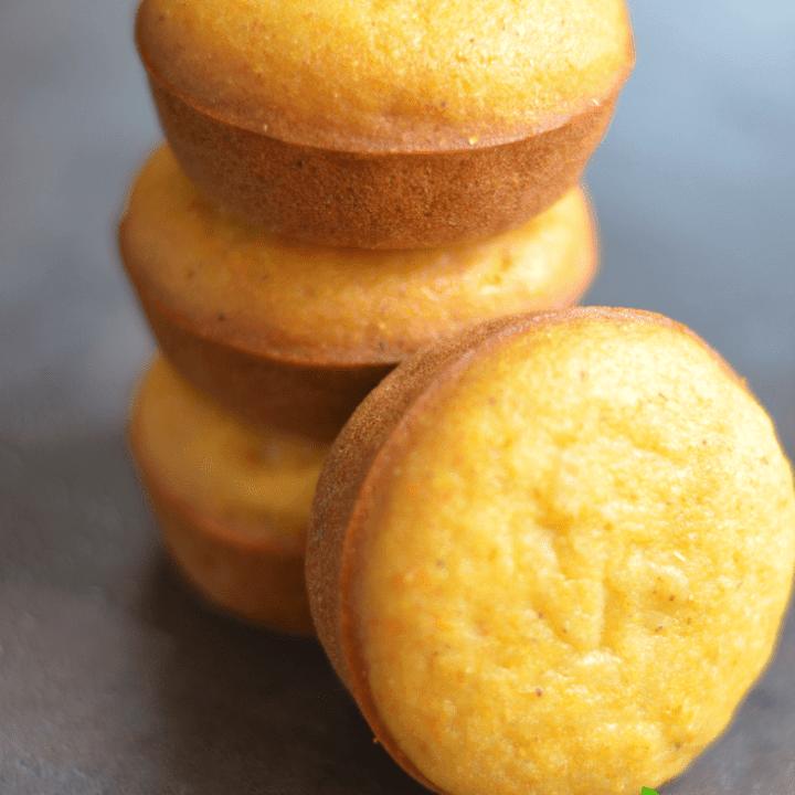 Vegan Cornbread Muffins (No-Refined sugar)
