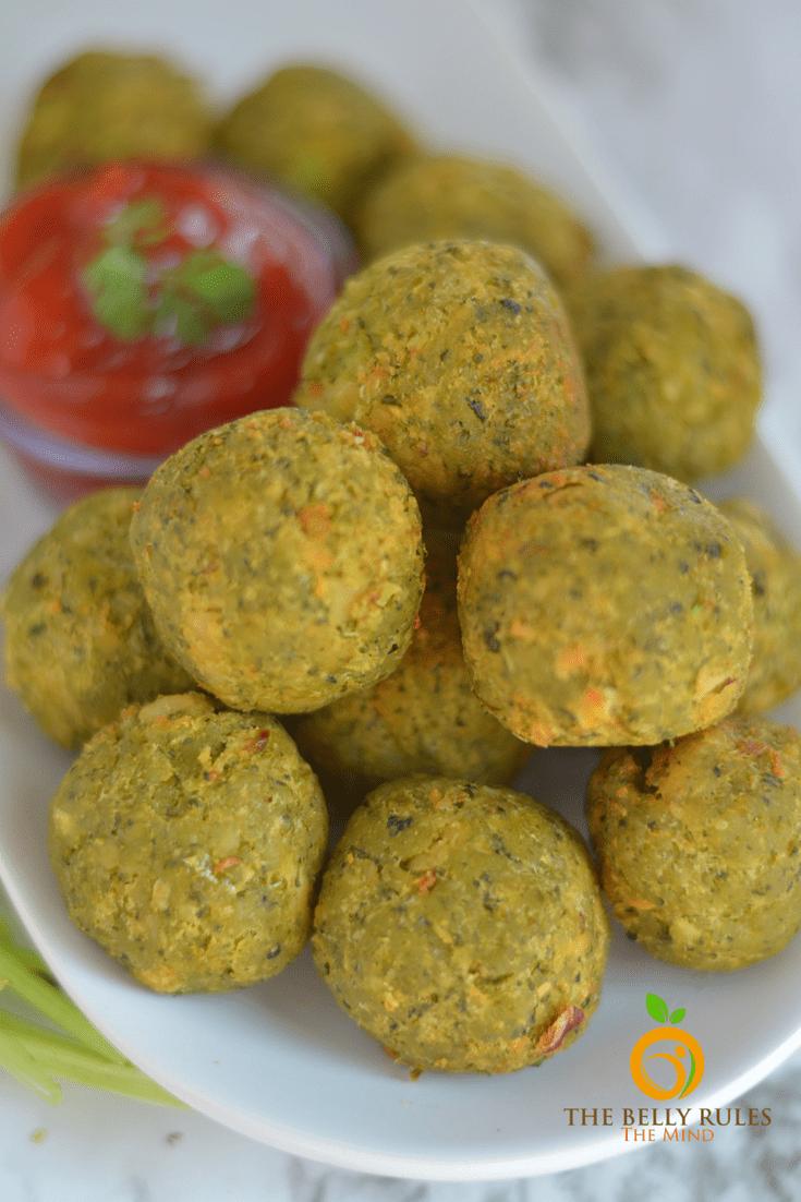 Vegan Hara Bhara Falafel kabab
