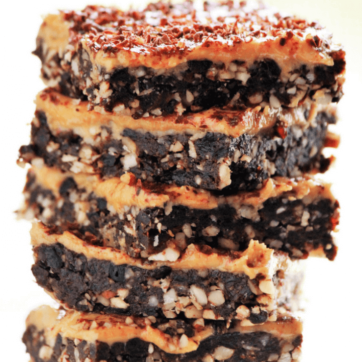 Healthy No-Bake Vegan Brownies