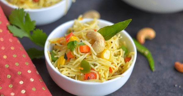 Instant Pot Vegan Vermicelli Bowl - Semiya Upma