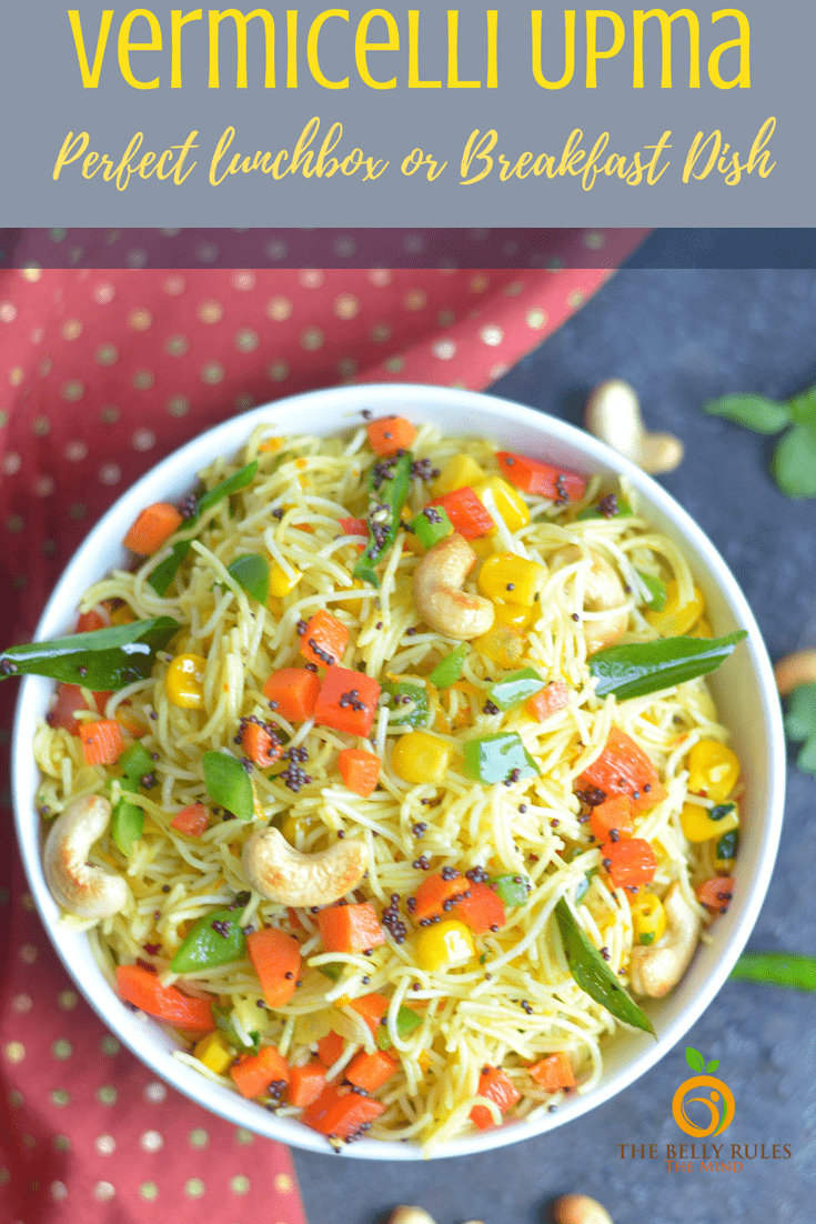 Instant Pot Vegan Vermicelli Bowl – Semiya Upma / Vermicelli Upma – A popular Indian breakfast dish which is also known as Vermicelli Upma/ Semiya Upma/ Namkeen Javein. A quick, easy and light recipe, this is made from vermicelli, a traditional type of pasta similar to spaghetti along with a mix of vegetables and spices.