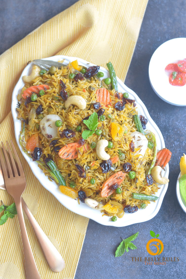 Instant pot vegan vegetable biryani recipe