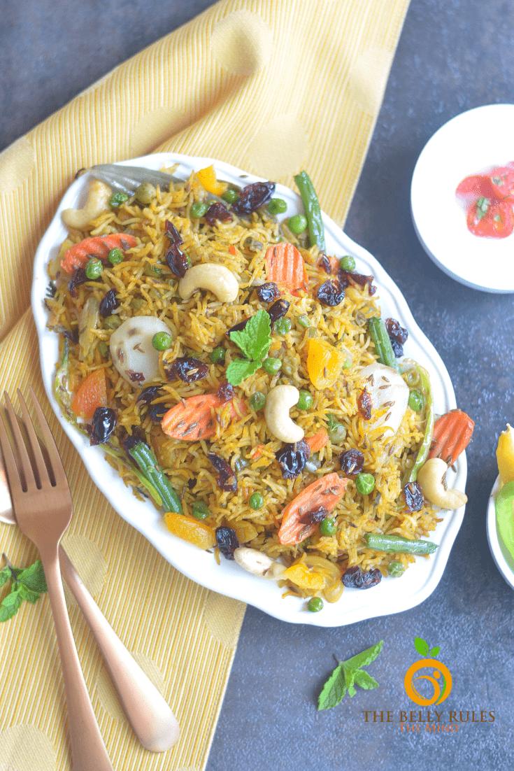 Instant pot vegan vegetable biryani recipe