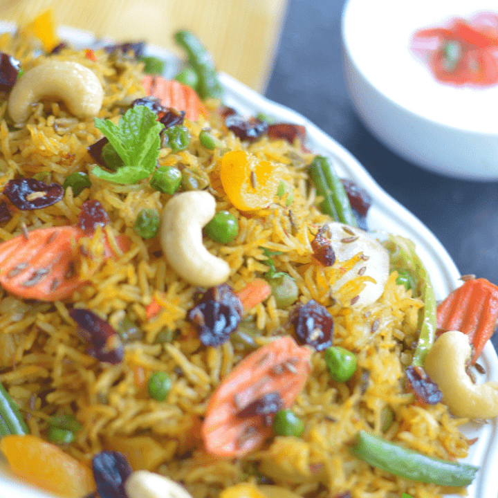 Instant Pot Vegetable Biryani Recipe Video Thebellyrulesthemind