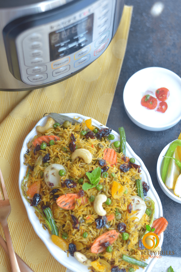 Intant pot vegan vegetable biryani
