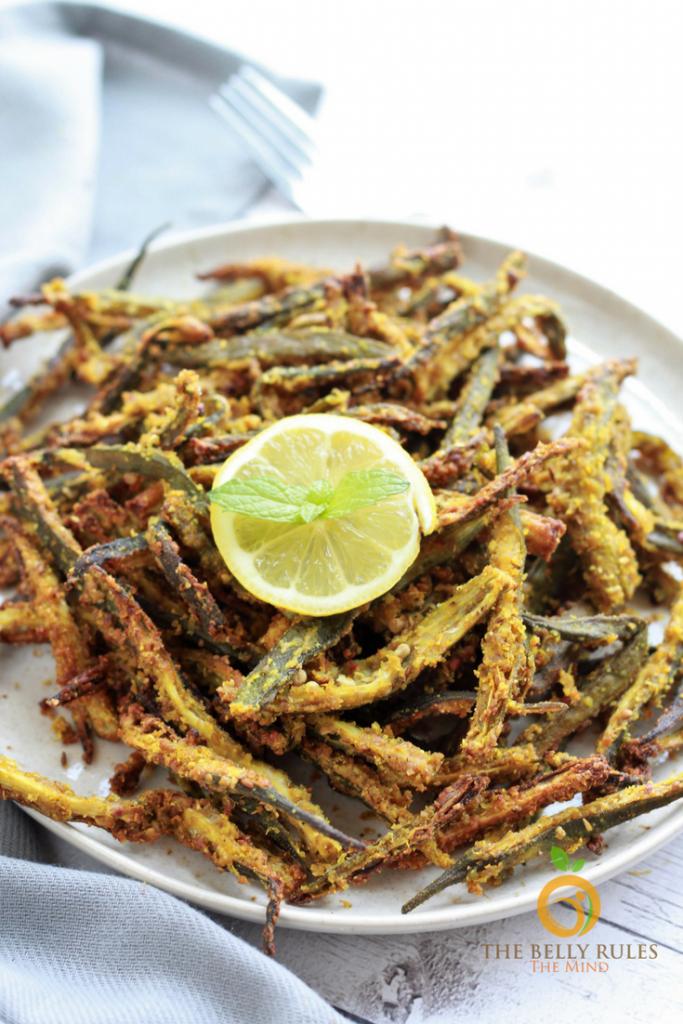 Vegan fried okra