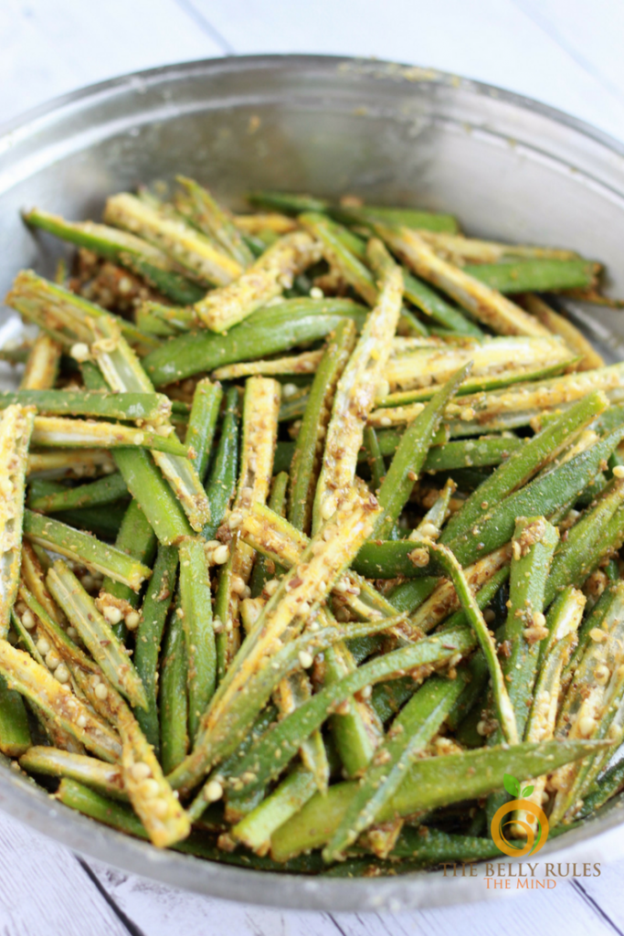 Vegan fried okra