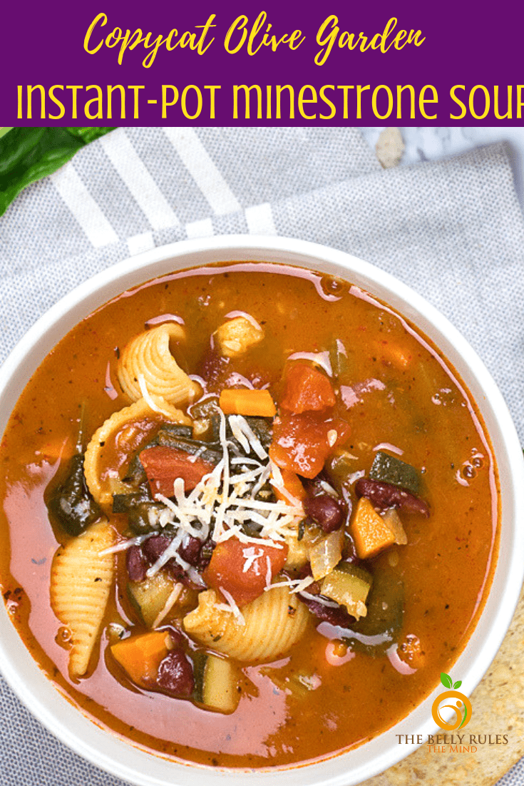Instant Pot minestrone soup (11)
