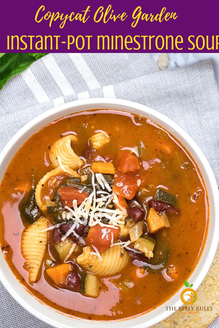 Instant Pot minestrone soup (11)