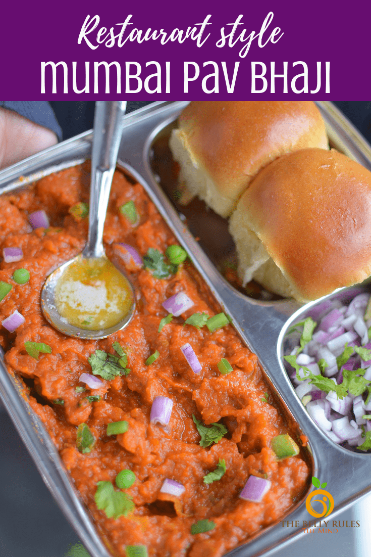 Mumbai style Pav Bhaji, a lipsmackingly delicious mashup of spicy potatoes and veggies served with dinner rolls. A very popular street food from Mumbai. Super easy to make. Instant Pot Pav Bhaji Recipe (Video) & Stove Top recipe. Tastes exactly like the one you get in Mumbai. Vegan option available. Sharing my secret to get the perfectly red bhaji. #indianfood #vegetarian #pavbhaji #mumbaistreetfood #vegetarianfood #recipe #pavbhajirecipe #veganoption