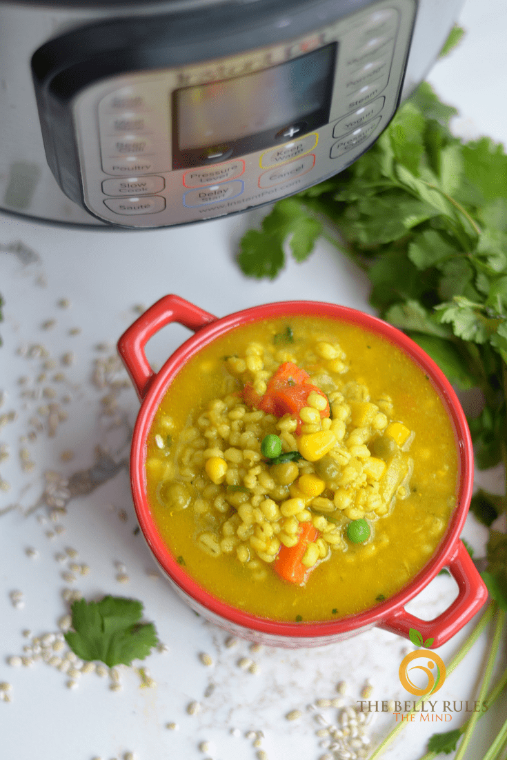 Instant pot vegetable barley soup