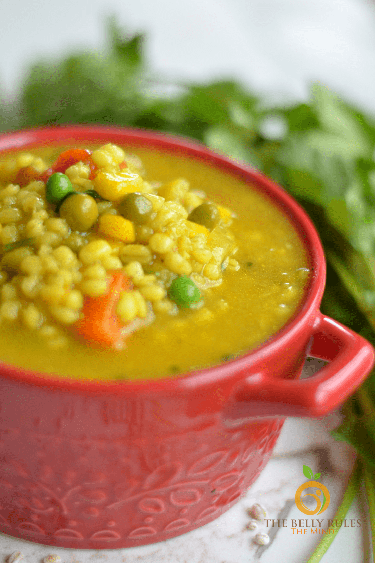Instant pot vegetable barley soup (7)