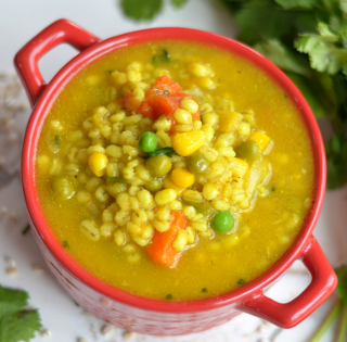 instant pot vegetable barley soup / barley soup recipe