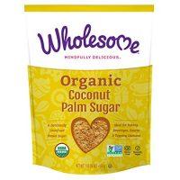 Wholesome Organic Coconut Palm Sugar, Non GMO, Gluten Free, 1 LB bag (single pouch)