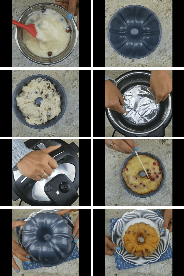 INSTANT POT CRANBERRY ORANGE BUNDT CAKE