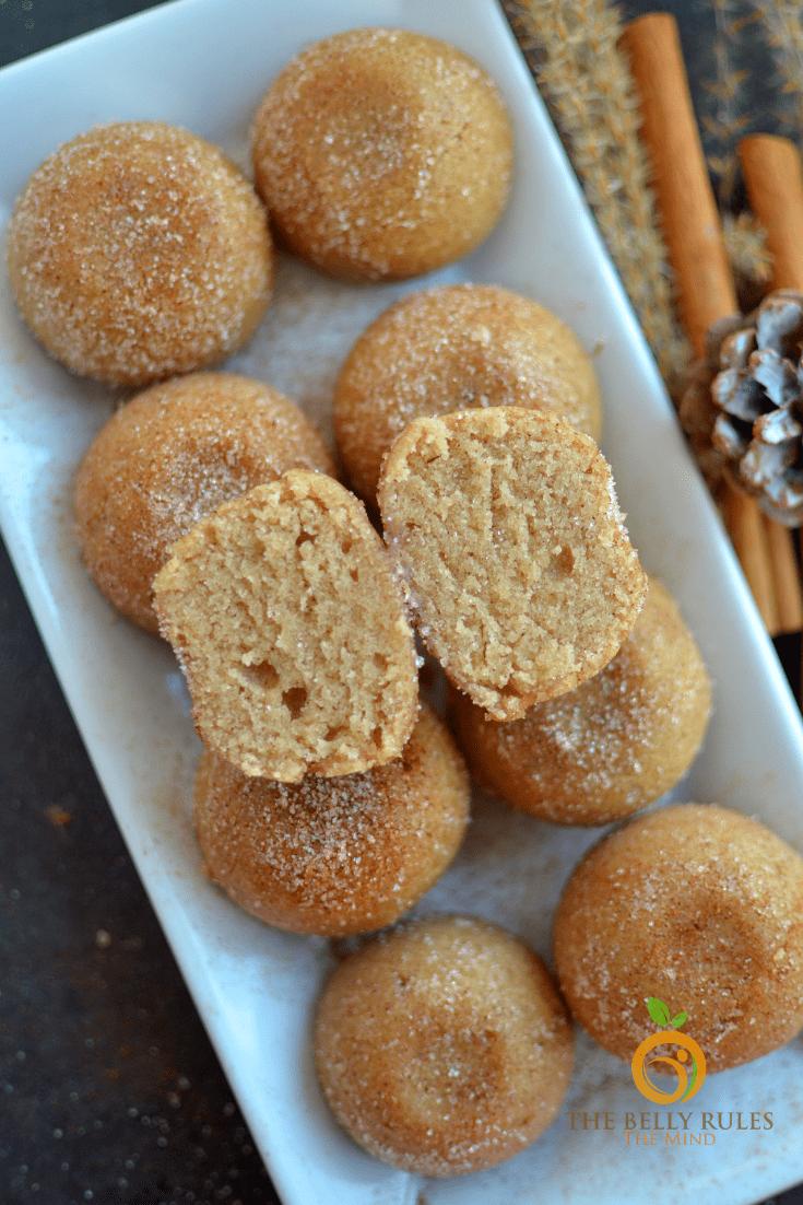 instant pot homemade churro bites- churro muffins