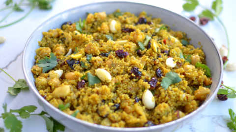 one minute curried quinoa pilaf__ pulav (2)