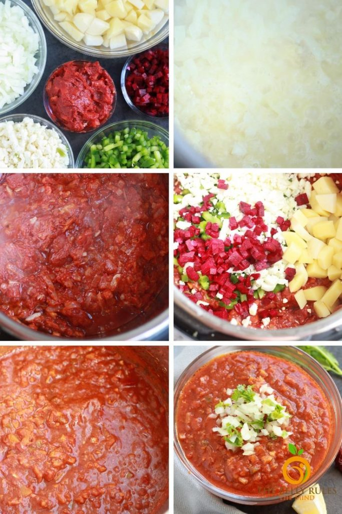 step by step pav bhaji instructions for instant pot