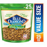 Blue Diamond Almonds, Raw  Whole Natural, 25 Ounce