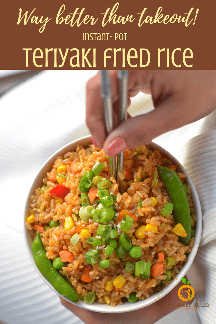 instant pot teriyaki fried rice bowl