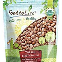 Food to Live Certified Organic Pinto Beans (Non-GMO, Kosher, Bulk) (3 Pounds)