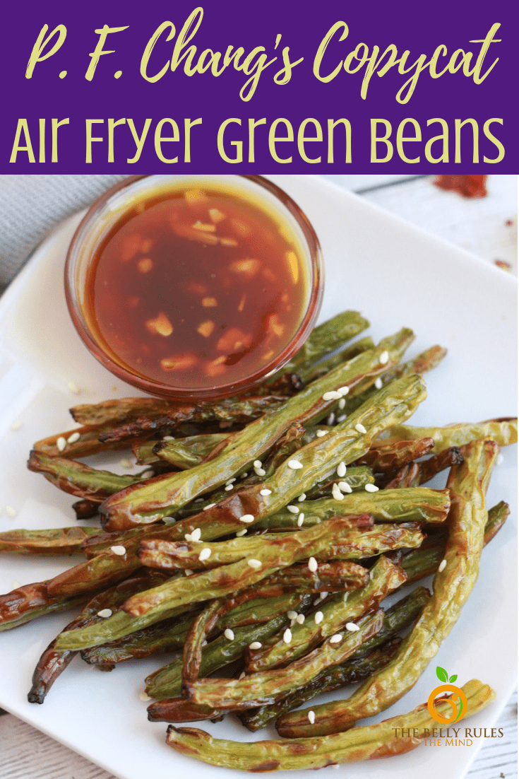 If you are looking for a quick and easy delicious vegetable snack or side, these Air Fryer Green Beans are a must try. PF Chang copycat, these green beans are super easy to make in 6 to 8 minutes. Vegan. Gluten-Free. Low Carb. Weight Watcher, Roasting & Broiling option given #airfryerrecipe #airfryerside #veganairfryer #glutenfreeairfryer #airfryergreenbeans #pfchangcopycat #copycatrecipe #lowcarbrecipe #ketorecipe #greenbeansrecipe