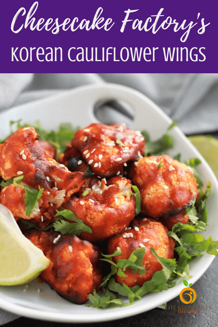 These Korean Air Fried Cauliflower Wings are the most delicious cauliflower wings ever. Inspired by Cheesecake Factory's Korean Fried Cauliflower we gave these a healthier twist so we can enjoy them more often at the comfort of our home. 8 ingredients and 8 minutes is all you need for this vegan, low-carb side, snack or appetizer that is just so yum!!! You are going to love these. I promise!!! Air Fryer Video plus Stove Top Recipe. #cauliflowerwings #koreancauliflowerwings #airfriedcauliflowerwings #airfriendkoreancauliflowerwings #chessecakefactorycopycatrecipe #airfryercauliflowerwings #airfryerkoreancayliflowerwings #cheesecakefactorycauliflowerwings