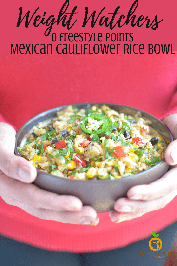 instant pot Mexican cauliflower rice bowl
