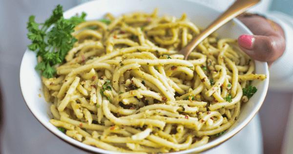 Instant pot spaghetti aglio e olie