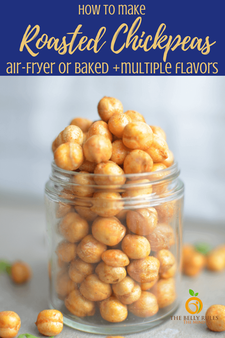 Air Fried Spicy Roasted Chickpeas are a delicious, easy appetizer for entertaining and are perfect for homemade gifts.  They're absolutely addicting! The best healthy snack just got even better and we are Air-frying them and  You only need a few ingredients for this healthy, high protein, gluten free and vegan treat!