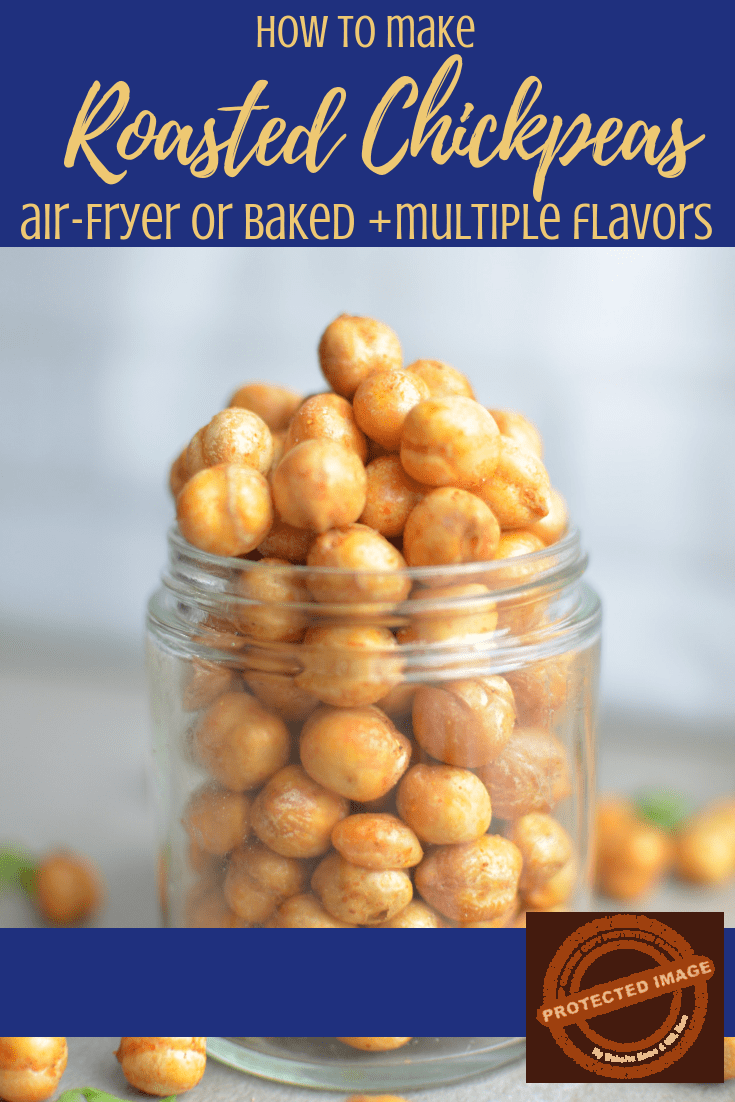 air fryer spicy roasted chickpeas