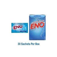 Eno Fruit Salt Regular Antacid Powder Baking Soda for Indigestion, Heartburn, Flatulence 30 Sachets 5 g Each by Eno