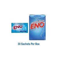Eno Fruit Salt Regular Antacid Powder Baking Soda for Indigestion, Heartburn, Flatulence 30 Sachets 5 g Each by Eno