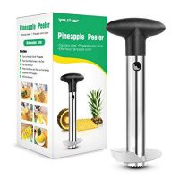 Yesker Silver Stainless Steel Pineapple Corer Peeler Stem Remover Blades for Diced Fruit Rings All in One Pineapple Tool Peeler Slicer (1 Pack)
