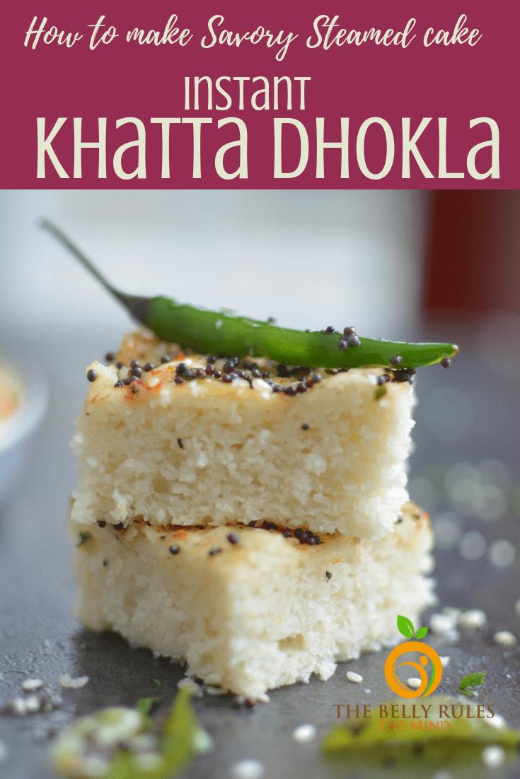 Homemade Instant Khatta Dhokla -White Dhokla