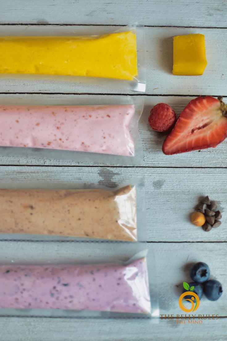 2 ingredients Homemade GO-Gourts/ yogurt pops
