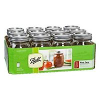 Ball Regular Mouth Pint Jars 12 Count (16 OZ) Made in USA Brand New and Fast Shipping