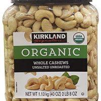 Kirkland Signature Organic Unsalted Cashew, 40 oz