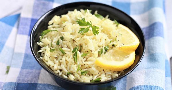 Lemon Rice in a bowl